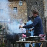 Carlo Making Ribs & Sausages