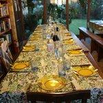 Dinner Table at Family Farm