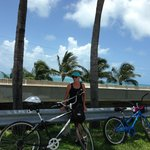 Getting ready to ride across the Old Seven Mile Bridge
