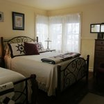 Guest Room A  Two queen beds. Private ensuite bath. Great view of Discovery Ski Area
