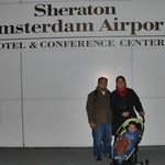 Us in front of the hotel