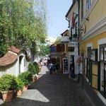 Cobblestone paths in Szentendre