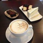 Cappucino, Brownies, Cheesecake, Coconut cake! YUM!