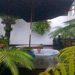 Even the Durban rain could not keep me out of the hot tub!