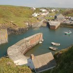 Porthgain from the cliff top