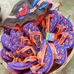 Flip Flops & Crab hats for the little ones