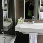 Clean comfortable bathroom (separate tiny toilet)