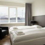 Guest room with fjord views