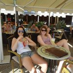 Guests at the Beach Pub & Pizzeria Karaka at Bačvice