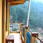 The balcony outside