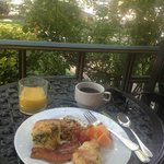 breakfast on the front porch