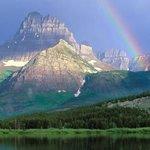 Rainbow over Glacier National Park