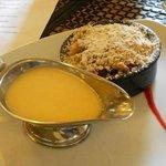 crumble and custard