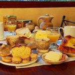 Desayuno en la cabaña