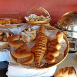 tasty fresh breads at the breakfast buffet