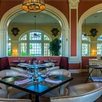 Galvez Bar & Grill offers seafood and view of the Gulf of Mexico.