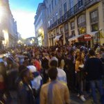 "From Dusk Till Dawn - Crowd gathering outside the bar ""Quero-te no Cais"", June 2013"