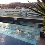 7th floor outdoor pool, see through bottom