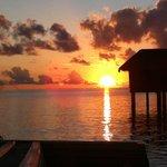 Water Villa Sunset