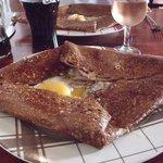 Galette jambon-champignon-oeuf