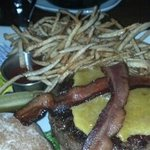 Little Piggy Burger, string fries! Yummy!