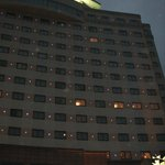 Hotel on arrival at night