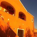 Villa Chtistina in the sunset