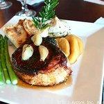 Broiled Salmon with Mango Salsa - Garlic Rose Madison NJ