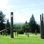 totem poles - great view