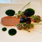 Moers snails with foie gar