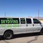 Shuttle van from landing spot