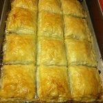 Fresh baked galactaboureko.