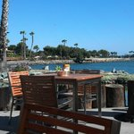View while dining at Barefoot Bar & Grill