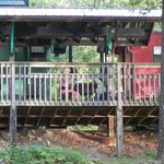 deck connected to the caboose