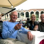 Dining in the shadow of The Verona Arena