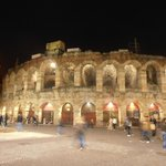 The Verona Arena at Night