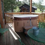 Hot tub and outside table