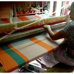 at the hand loom factory