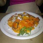 Lobster pasta dish