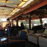 Inside Mylos beach bar