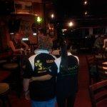 Joe and Bee modelling Samui Shamrock polo shirts!