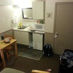 "Room 9's ""kitchen"" (there's no cooker)"