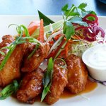 Hot and spicy chicken wings.