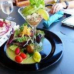 Shrimp and octopus avocardo salad.