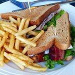 Turkey bacon sandwich.