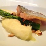 vanilla-poached trout