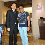 Pic with Manager Mr Danielle Darmawan