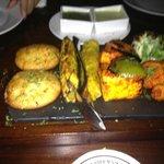 The Veg Kebab Platter