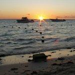 Beautiful sunset at Pearle Beach