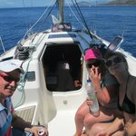 On the yacht Scirroco